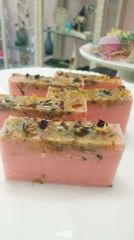 Love Aromatherapy and dried flower Glycerine Soap Bar