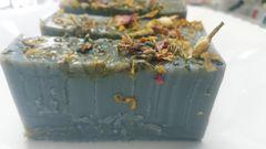 Lunacy Aromatherapy and dried flower Glycerine Soap Bar