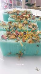 Chill Aromatherapy and dried flower Glycerine Soap Bar