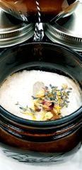 Steam aromatherapy & pink Himalayan salt bath soak