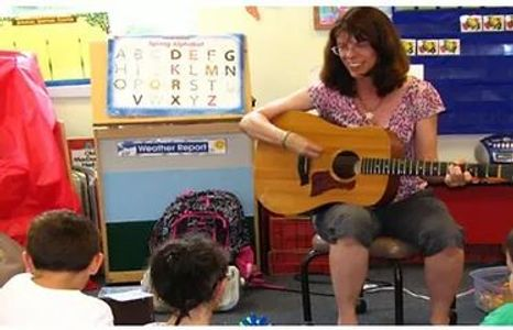 music therapy with a small class.