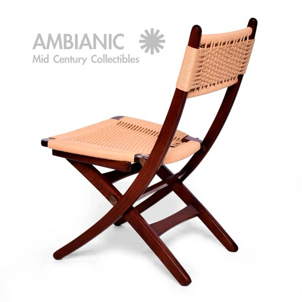 Awe Inspiring Mid Century Danish Modern Rope Folding Chair Ocoug Best Dining Table And Chair Ideas Images Ocougorg