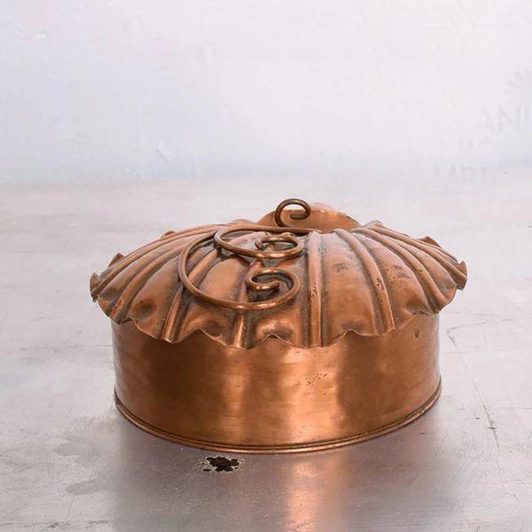 SILENT BUTLER GREGORIAN Copper-Flip-Top Crumb Catcher-Vintage