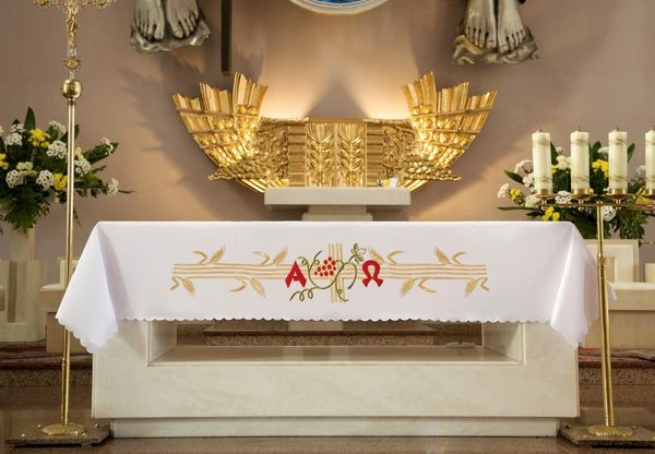 Embroidered Altar Cloth (Alpha and Omega)