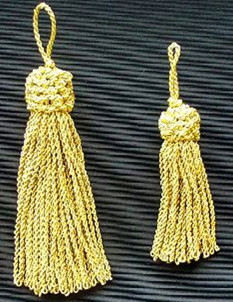 Gold Metallic Tassels