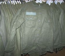 M-1951 WOOL SHIRT, GREEN *NICE*