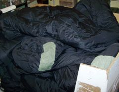 SLEEP SYTEM INTERMEDIATE SLEEPING BAG, BLACK, U.S. ISSUE *NICE*
