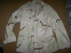 M65 FIELD JACKET, TRI-DESERT CAMO, SIZE LARGE-LONG, U.S. ISSUE