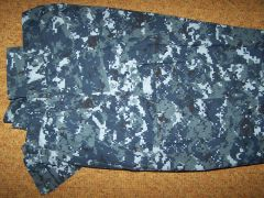 NAVY NWU PANTS, BLUE DIGITAL ACE CAMO, LARGE-X-LONG, U.S. ISSUE