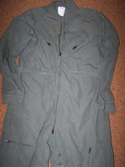 NOMEX FLIGHT SUIT, CWU-27/P, SAGE GREEN, SIZE 50 LONG, U.S. ISSUE