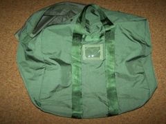 A-3 FLYER'S KIT BAG, O.D. GREEN NYLON, U.S. ISSUE