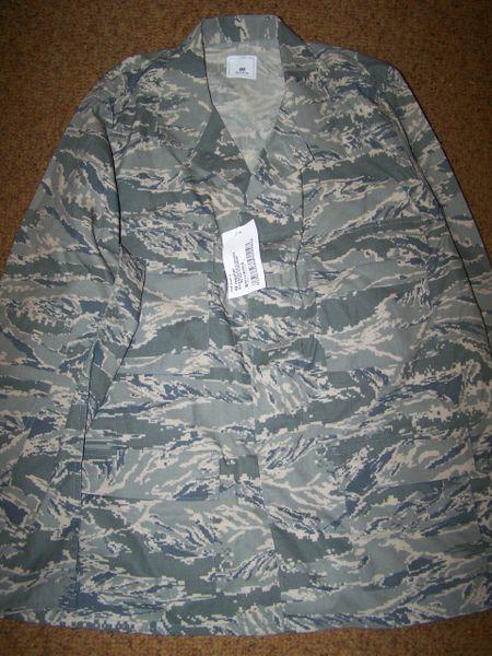 ABU SHIRT, AIR FORCE DIGITAL TIGER STRIPE CAMO, SIZE 48 REG, U.S. ISSUE