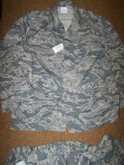 ABU SHIRT, AIR FORCE DIGITAL TIGER STRIPE CAMO, SIZE 48 LONG, U.S. ISSUE