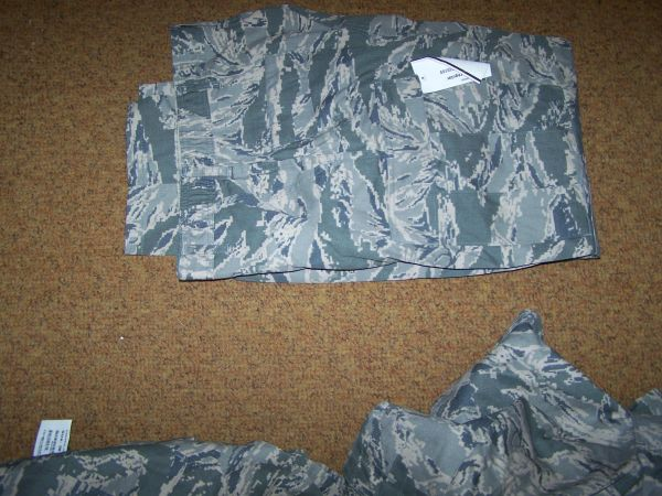 ABU PANTS, AIR FORCE DIGITAL TIGER STRIPE CAMO, SIZE 38 REG, U.S. ISSUE