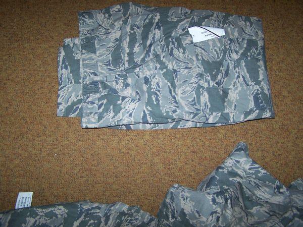 ABU PANTS, AIR FORCE DIGITAL TIGER STRIPE CAMO, SIZE 38 REG, U.S. ISSUE