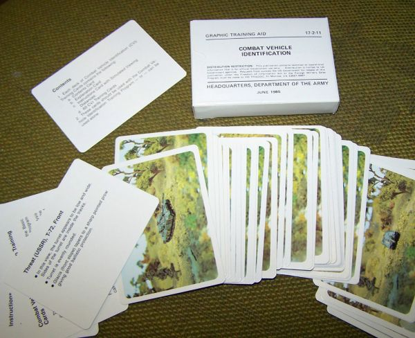 COMBAT VEHICLE IDENTIFICATION CARDS