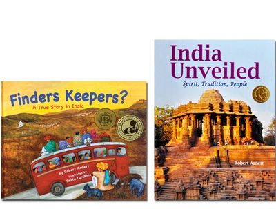 Finders Keepers? and India Unveiled donated as resource books on India for multicultural education.
