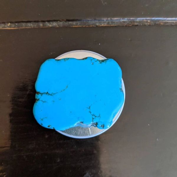 "Turquoise pop socket 1 3/4"" x 1 3/4"""