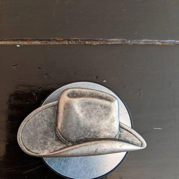 """cowboy hat pop socket 1 3/4"""" x 1 1/2"""""""