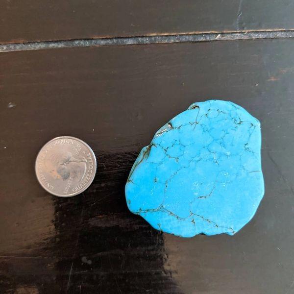 """Large turquoise slab pop socket 2 1/4"""" x 1 3/4"""""""