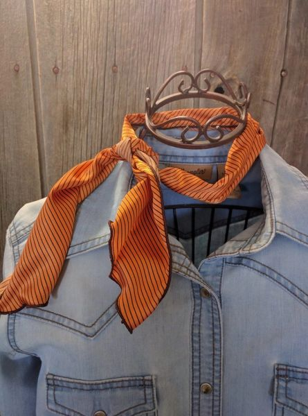 Roy Rogers or show scarf - Burnt orange and brown print
