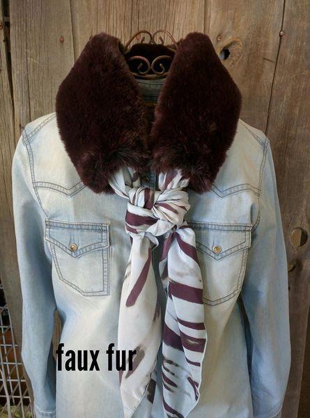 deep purple faux fur wild rag ruff