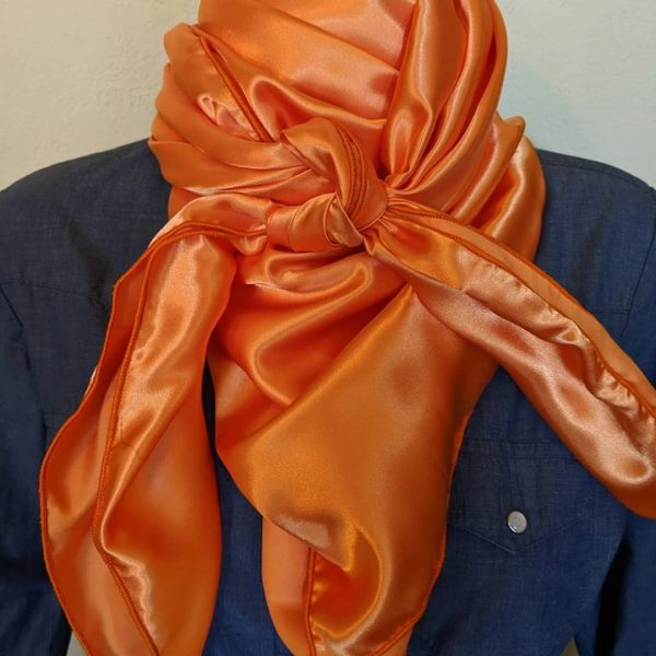 42x42 shiny hunter orange wild rag