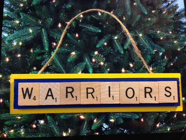 Joker Christmas Ornament.Golden State Warriors Scrabble Tiles Ornament Handmade Holiday Christmas Wood