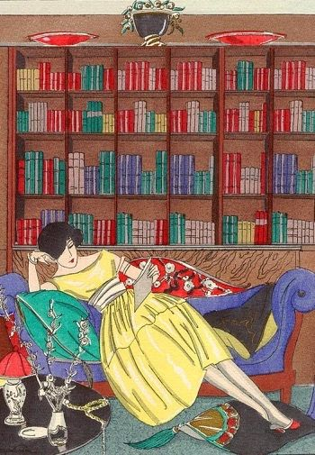 'To Dream a Little' Vintage Reading Illustration Greeting Card.