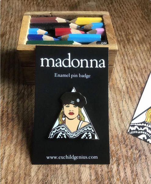 Madonna Enamel Pin Badge. Fantastic Full Colour Black Metal Pin.