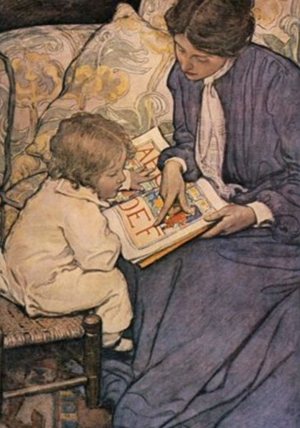 'First Steps' Jessie Willcox Smith Illustration Greeting Card