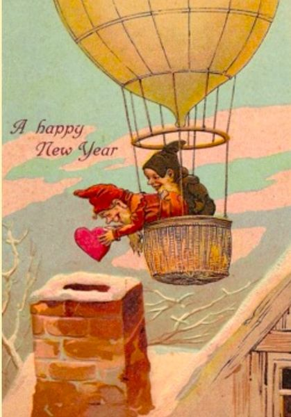 Happy New Year Card. Love Down Your Chimney!