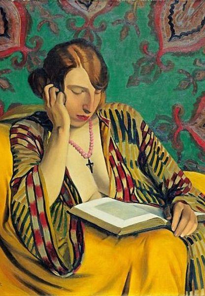 Vallotton 'Woman Reading' Classic Art Greeting Card