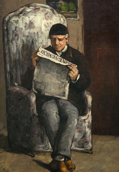 Cézanne 'The Artist's Father Reading' Classic Art Greeting Card