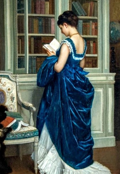 Toulemouche 'In The Library' Classic Art Greeting Card