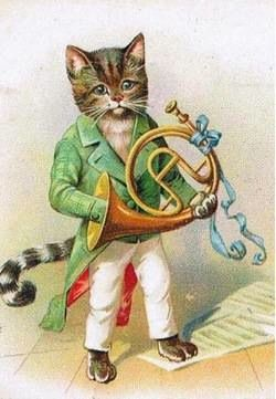Cutest Little Cat Ever! Adorable Vintage Greeting Card Repro