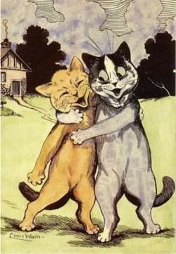 'A Very Happy Couple of Cats' Yet Another Adorable Louis Wain Card