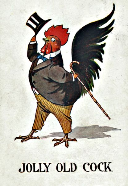 'Jolly Old Cock' Fantastic Greeting Card of a Dapper Cockerel