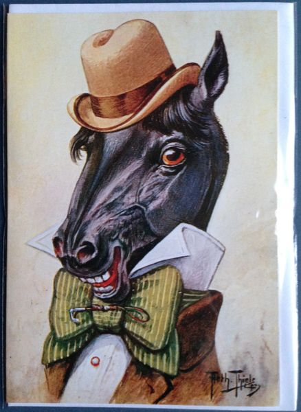 'Horsing Around' Vintage Dapper Stallion Greeting Card