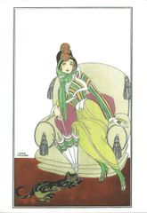 Lili Elbe A Danish Girl Transgender Pioneer Art Deco Greeting Card