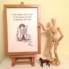 I Am Human... Art Print of Vintage Book Illustration with The Smiths Lyrics. Designed by Ex Child Genius