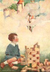 'Building Dreams' Vintage Storybook Greeting Card