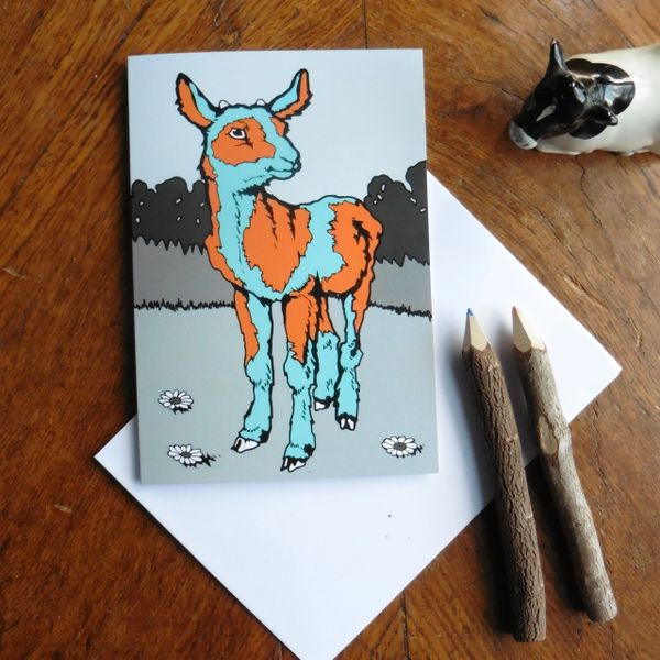 Baby Goat Greeting Card for the Wonderfully Individual Person in your Life