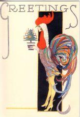 'Christmas Elegance' Vintage Fashion Christmas Card Repro