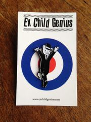 The Dancing Bear! Completely Cool Pin Badge by Ex Child Genius