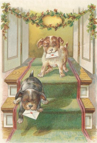 'The Christmas Messengers' Super-Cute Dog Christmas Card