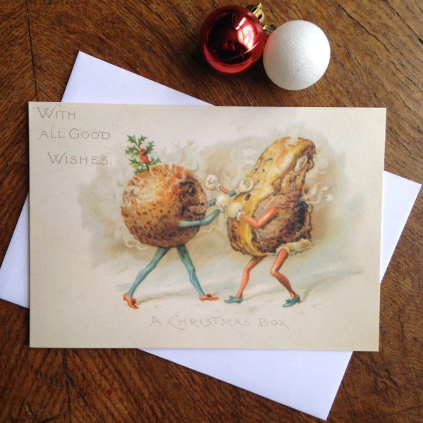 'A Christmas Box' A Very Unusual Vintage Christmas Card!
