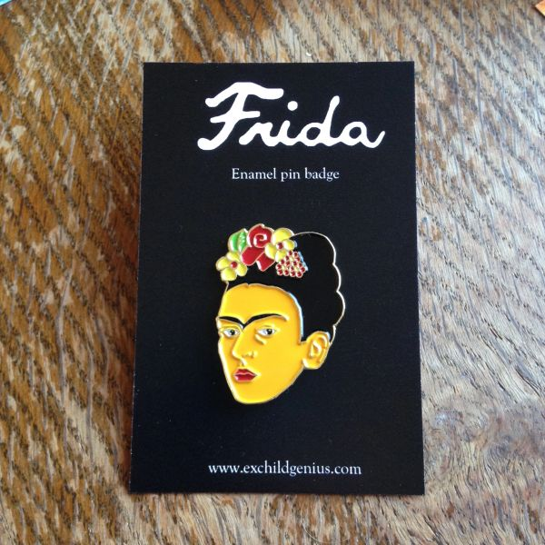 Frida Kahlo Enamel Pin Badge. Fantastic Full Colour Bronze Metal Pin.