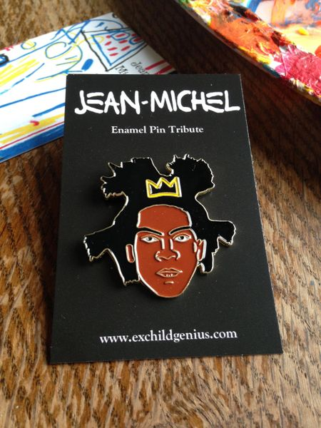 Basquiat Enamel Pin Badge. Fantastic Full Colour Bronze Metal Pin.