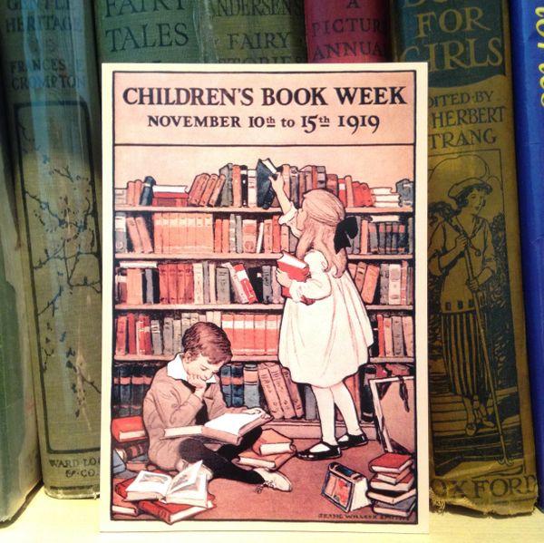 'Children's Book Week 1919' Jessie Willcox Smith Illustration Greeting Card